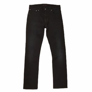 Nudie Jeans Mens Black Slim Skinny Jeans
